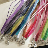10Pcs Jewelry Making Necklace Cord Organza Ribbon Wax Cord with Lobster Clasp