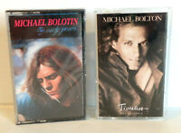 MICHAEL BOLTON 2 Cassette Tapes - THE EARLY YEARS (New) + TIMELESS (Preowned)