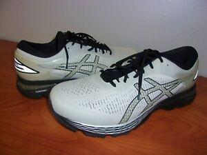 Asics Gel Kayano 25 Mens Running Shoes Gray/Black 12 Extra Wide
