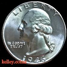 1946 25C Washington Silver Quarter  BU