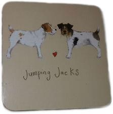Jumping Jacks Corked Backed Coaster, Jack Russel Terrier, Dogs, Tableware C04
