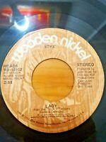 Styx ~ Lady / Children Of The Land, 1974 Wooden Nickel Vinyl 70s Rock 45 Record