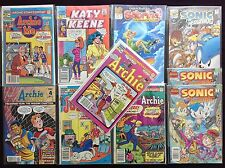 ARCHIE Lot of 10 Comic Bks - & Friends, & Me, Jughead, Sabrina, Sonic, K Keene+!
