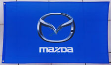 New Banner Flag for Mazda Flag Wall Deco Garage 3x5ft Blue