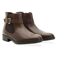 Redfoot Ladies Leather Bethany Tan Chelsea Buckle Boots UK 5/Euro 38 RRP £95