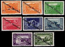 1925 ALBANIA #178-85 OVERPRINTS OF #147-53, 163 - OGH - VF - $19.10 (ESP#2179)