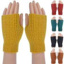 Women Ladies Winter Warm Thick Thermal Fingerless Gloves new