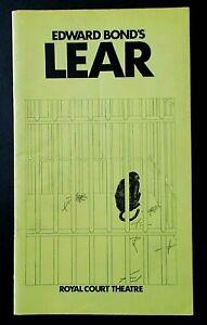 Edward Bond's Lear programme Royal Court Theatre 1971 Harry Andrews Ron Pember