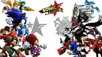Sonic Forces Sonic the Hedgehog Silk poster wallpaper 42 X 24 inches
