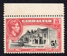 Gibraltar 5/- Stamp c1938-51 Unmounted Mint (never hinged ) Perf 13