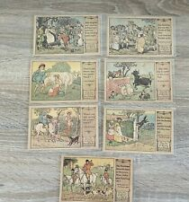 Nursery Rhymes Randolph Caldecott Milkmaid Comes Lasses And Lads Lot 7 Cards