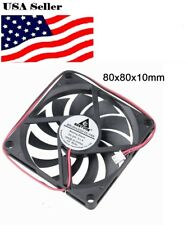 new DC 24V 80mm 2Pin 11Blades 80x80x10mm  brushless Cooling Case Fan 8cm 8010S