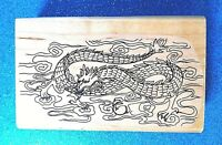Sea Dragon - Chinese Sea Serpent ~  !998 Rubber Tree Rubber Stamps #62-58 ~ EUC!