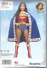 Simplicity Sewing Pattern 1024, Wonder Woman Costume Size 6 - 14 Uncut