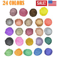 Mica Powder Pigments Soap Dye Candle Resin Bath Colorant Cosmetic Grade 24 Color
