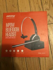 Mpow BH231A Bluetooth Headset Noise Cancelling Truck Driver Headset w/Mic