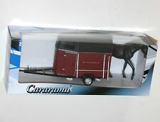 Cararama - HORSE TRAILER and HORSE - Model Scale 1:43