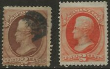 SC 178, 183--2 CENT BANKNOTE STAMPS---64