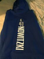 Dirk Nowitzki Fanatics Dallas Mavericks Pullover Hoodie Large Size