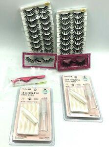 Wholesale Mink Eyelashes 3D Natural False Lashes 22 Pair of Fake Lashes Bulk NEW
