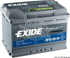 EXIDE Premium Dual Purpose Battery 77Ah 130min 230W/h 12V 19.1Kg 278x175x190mm