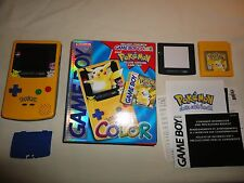 Nintendo Game Boy Color Pokemon Pikachu Edition System Console Yellow Complete