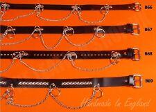 Bullet Punk Gothic Biker SID Ring Studded UK Fully Handmade Leather Waist Belts
