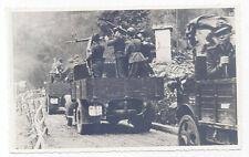 WORLD WAR II - ITALIAN FASCISTS IN MOTION UNDER FULL WEAPONS - ORIGINAL PHOTO