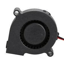 Black Brushless DC Cooling Blower Fan 2 Wires 5015S 12V 0.12A A 50x15 mm Ci