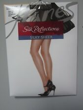 Hanes Silk Reflections #718 Control Top Reinforced Toe Gentlebrown Pantyhose AB