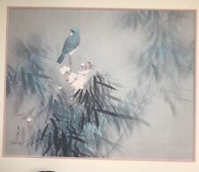"David Lee Art  Lithograph Spring Song Bird 22""H x 28""W 1978 Vintage"