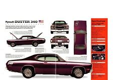 1972 Plymouth DUSTER 340 SPEC SHEET/Brochure:MOPAR