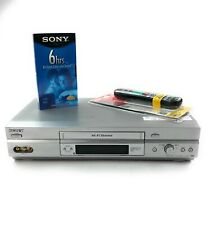 New listing Sony Slv-N750 Vcr Vhs Player Recorder 4 Head Hi-Fi Tested Works Universal Remote