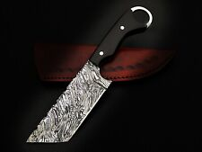 HUNTING STAG USA FORGED DAMASCUS-STEEL TANTO KARAMBIT KNIFE