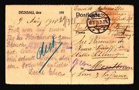 Germany 1915 POW Card to France / DESSAU CDS / Censored - Z14405