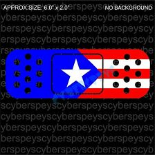 Puerto Rico Flag Band-Aid Design Drift Racing Car Vinyl Sticker Decals
