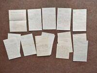 1882–1889 12 hand written Letters Thornton Hall and Nash School Buckinghamshire