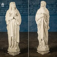More details for 19th c mary & joseph beer stone reredos figures statues
