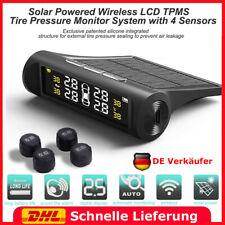 Solar Auto TPMS Reifendruckkontrollsystem Temperatur Alarm + 4 Externe Sensoren