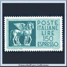 1966 Italia Repubblica Espresso L. 150 Cavalli Alati n. 35 Nuovo Integro **
