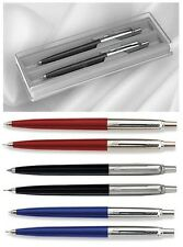 PARKER JOTTER BALL POINT PEN & PENCIL SET IN GIFT BOX NEW BLACK / BLUE / RED