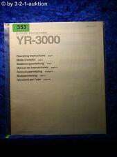 Sony Bedienungsanleitung YR 3000 S-RGB Transcoder  (#0353)