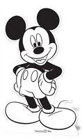 Mickey Mouse Color Y Mantén Figura de Cartón Pintura / En Tu Propio Recortado