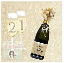 21ST 18TH SQUARE CAKE TOPPER PERSONALISED WINE BOTTLE EDIBLE ICING ANY AGE