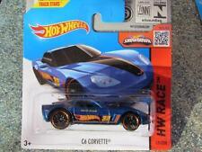 Hot Wheels 2015 # 131/250 C6 CORVETTE Course Bleu HW COURSE étui F