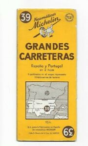 Carte Neumaticos MICHELIN «Gdes CARRETERAS» Espagne Espana Spain Portugal 1952 !