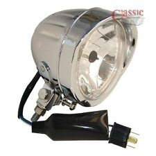 Universal Custom Chrome 4.5'' Inches Motorcycle Spotlight Bullet Style