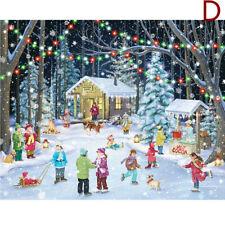 1000 Piece Jigsaw Puzzle Children-Adult Christmas Snowman Puzzles Xmas Cities
