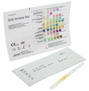 50 x URINE TEST STRIPS 10 Parameter Diabetes,Ketones,Liver,pH,Blood,UTI (10x5)