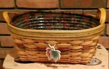 Longaberger 2001 Autumn Reflections Large Daily Blessings Fall Basket Combo New